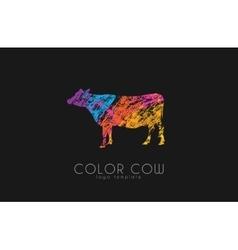 Cow logo color creative logo design vector