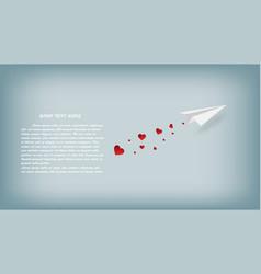 creative valentine day concepts paper plane paper vector image