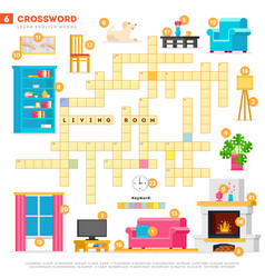crossword with huge set and vector image