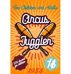 Cute circus card design vector image