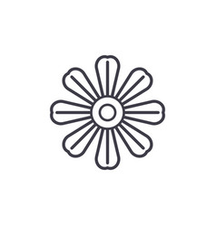 daisy flower line icon concept daisy flower flat vector image