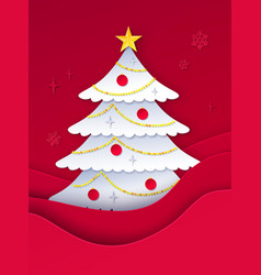 decorated fir tree vector image