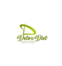 detox diet icon vector image