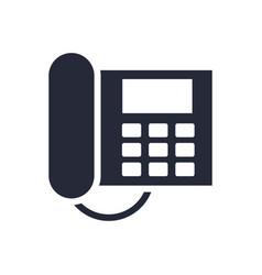 digital telephone communication device isolated vector image