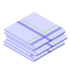 Dining handkerchief icon isometric style vector