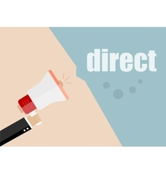 Direct Flat design business vector