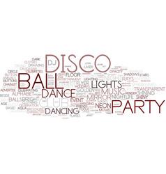 disco word cloud concept vector image