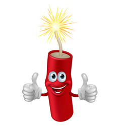 dynamite or firecracker man vector image