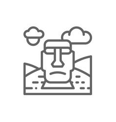 easter island chile landmark line icon vector image