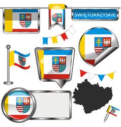flag swietokrzyskie poland vector image