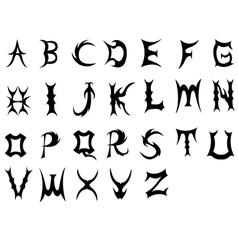 Font-Evil vector