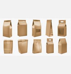 food package template white bag mockup vector image