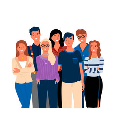 Friends or relatives smiling man and woman vector