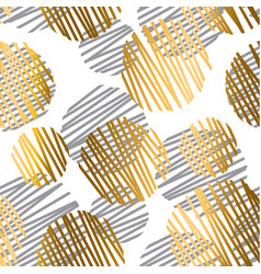 Gold and gray geometric luxury seamless pattern vector