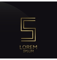 Golden S Letter vector image