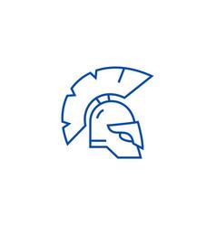 greece helmet line icon concept greece helmet vector image