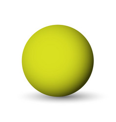 green sphere ball or orb 3d object with vector image