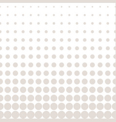 Halftone circles pattern in pastel colors beige vector