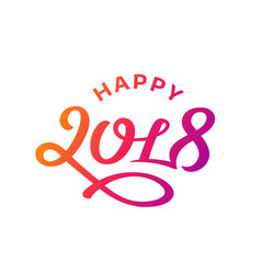Happy new year 2017 lettering greeting card design vector