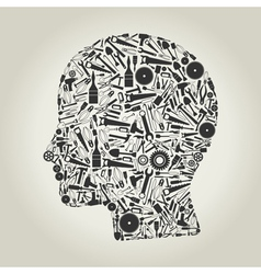 Head the tool vector image vector image