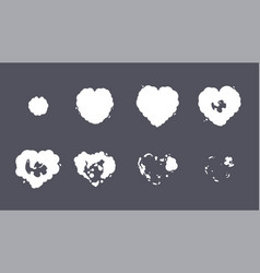 Heart explosion storyboard sprite set for vector