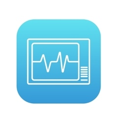 Heart monitor line icon vector image