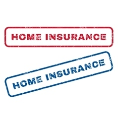 Home Insurance Rubber Stamps vector