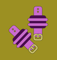 Icon in flat design athletic weights on legs vector