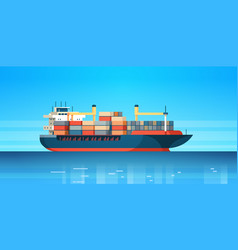 industrial sea cargo logistics container import vector image