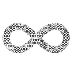 Infinity icon shape vector