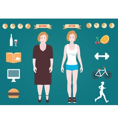 Infographic of fitness and sport vector image