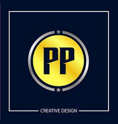 Initial letter pp logo template design vector