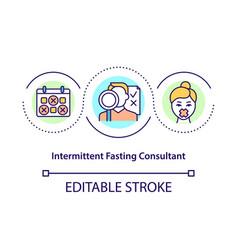 Intermittent fasting consultant concept icon vector
