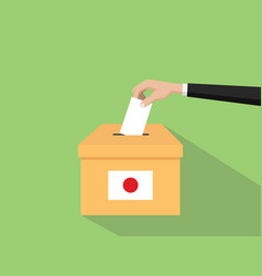 japan vote election concept with vector image