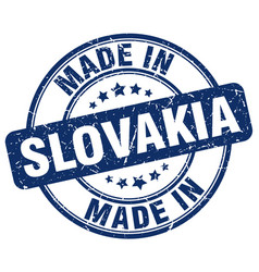 made in slovakia blue grunge round stamp vector image
