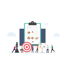 marketing strategy business concept with team vector image