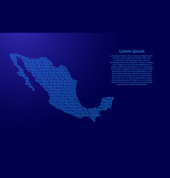 mexico map abstract schematic from blue ones and vector image