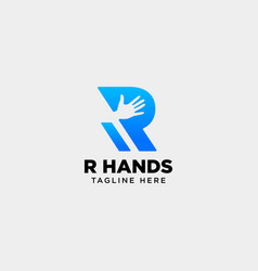 Minimal r letter initial hand logo template icon vector