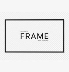 Minimal white pattern background black frame vector