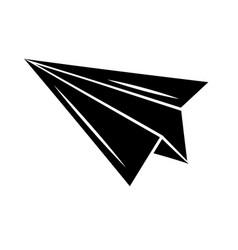 minimalist tattoo boho paper plane silhouette art vector image