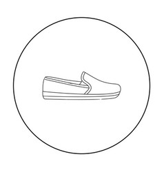 moccasin icon in outline style isolated on white vector image