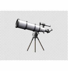 modern telescope on transparent background vector image