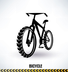 Mountain bike symbol vector