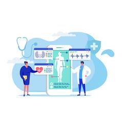 Online medicine concept vector