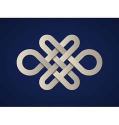 Paper endless celtic knot vector