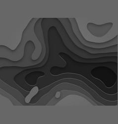 Papercut gray multi layer gradient background vector