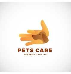 Pet Shop Abstract Emblem or Logo Template vector image