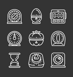 Phishing icon set outline style vector
