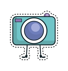 photographic camera kawaii character vector image