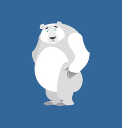 Polar bear sad emoji wild animal arctic and vector
